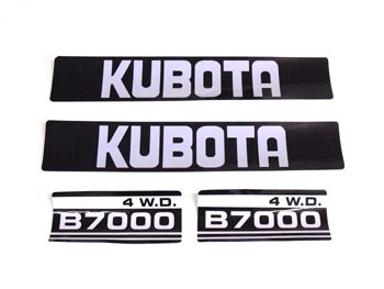 Motorkapstickers kubota b series stickers for Sticker exterieur